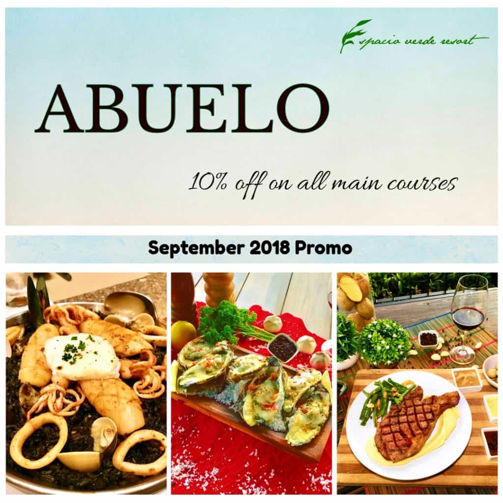 ABUELO MAIN COURSE PROMO