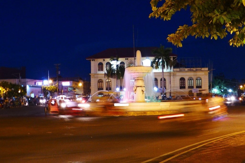 Roxas City Fountain at Night