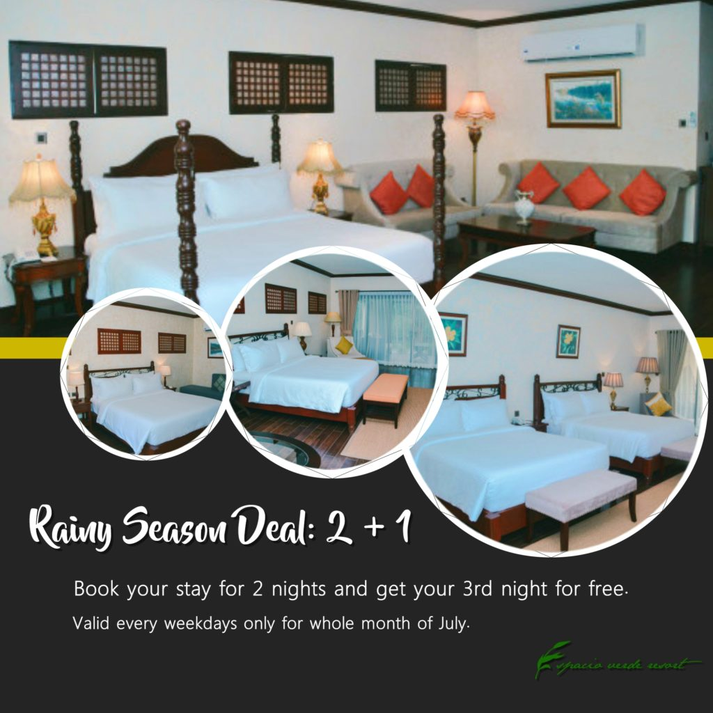 Espacio Verde Resort Room Promo July 2019